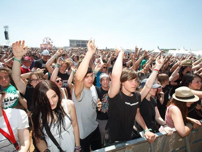 Linkin Park spielen am Nova Rock 2012 auf.