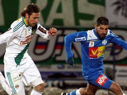Das Duell Wiener Neustadt - Rapid endete torlos mit 0:0.