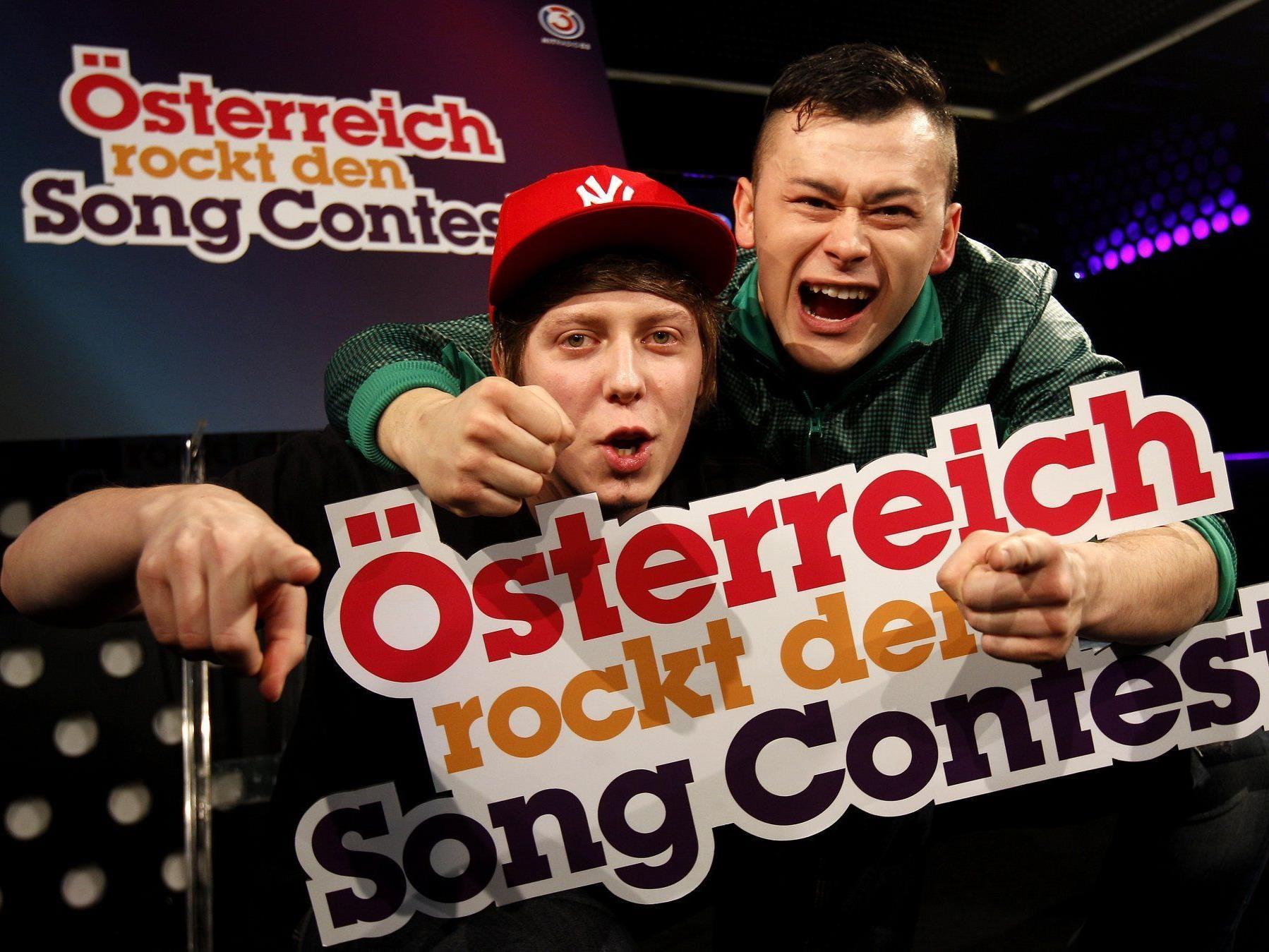 Song Contest 2012: Trackshittaz vertreten Österreich.