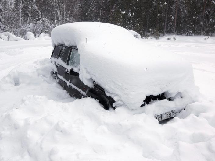 Zwei Monate überlebte ein Schwede in diesem Auto