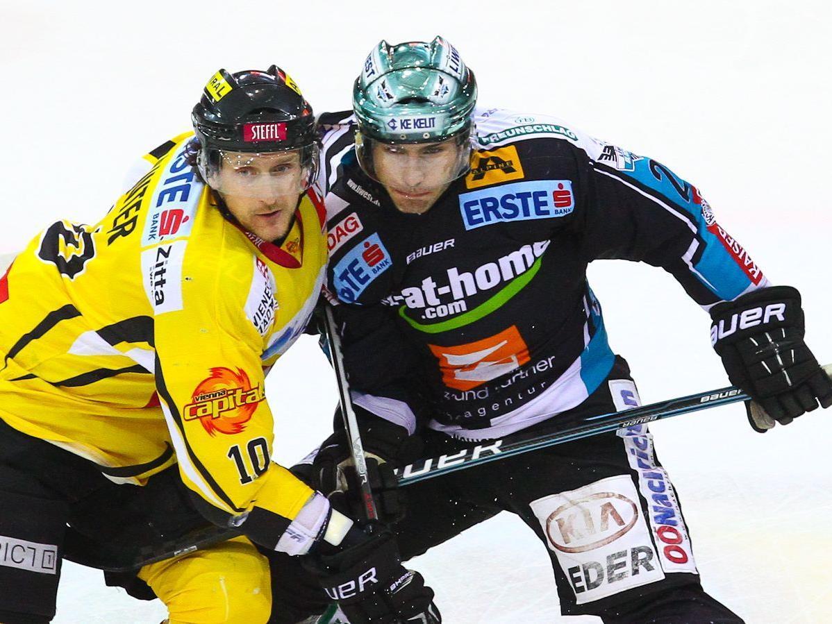 Die Vienna Capitals mussten sich am Dienstag den Black Wings Linz geschlagen geben.