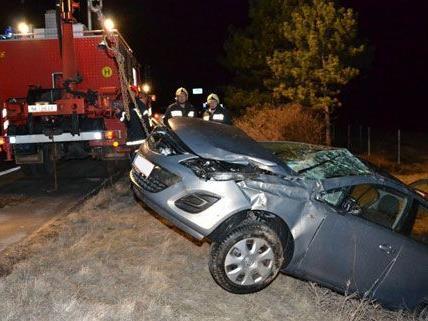 Die Lenkerin blieb bei dem Unfall auf der Südautobahn unverletzt.
