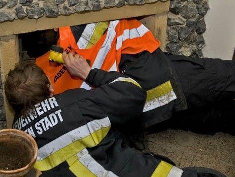 """Die Feuerwehr musste ausrücken um """"Berschi"""" zu retten."""