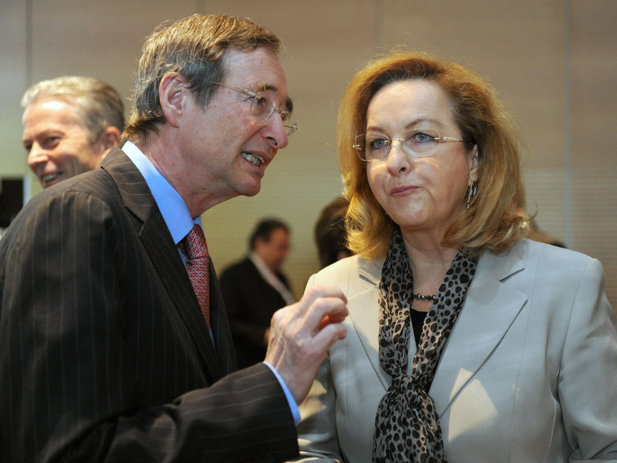 WB-Präsident Christoph Leitl (l.) und Finanzministerin Maria Fekter bei der ÖWB-Generalversammlung in Salzburg.
