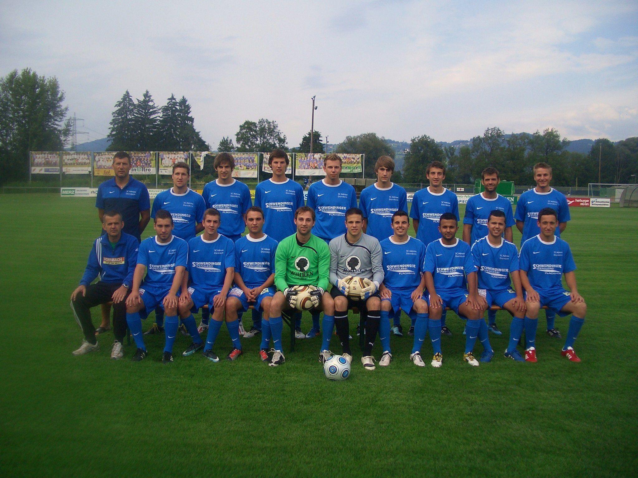Die Kampfmannschaft vom SC Admira Dornbirn.