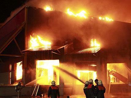 Der Großbrand in Wolfsthal erforderte einen Großeinsatz der Feuerwehr
