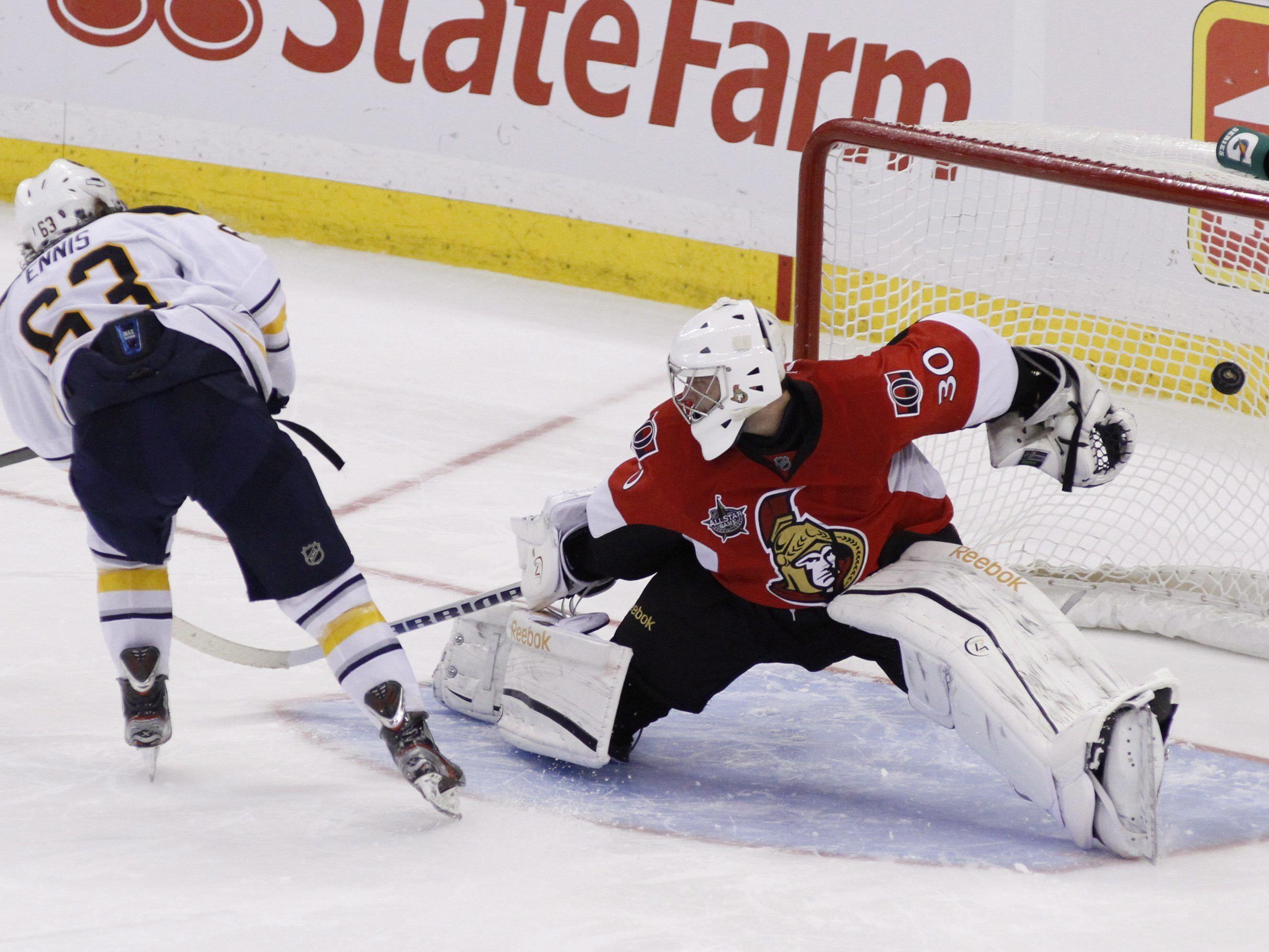 Buffalo Sabres gewannen nach Penaltyschießen mit 4:3 gegen Ottawa Senators.