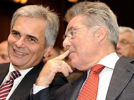 Bundespräsident und Kanzler einigten sich auf ein Sparpaket in zwei Teilen