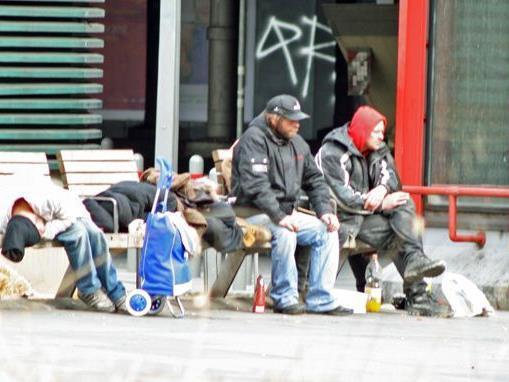 Beim Lokalaugenschein am Praterstern war es ruhig. Doch einige Obdachlose sind immer dort anzutreffen.