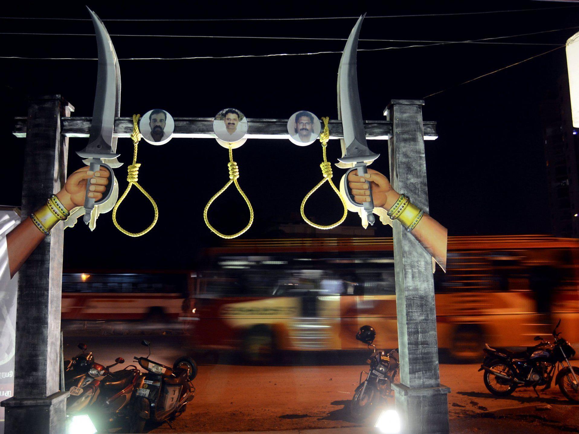 Proteste gegen die Todesstrafe in Indien.