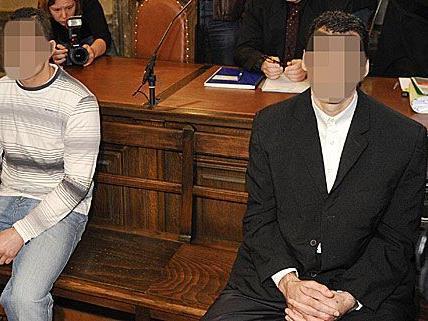 Die beiden Beschuldigten saßen nach dem Mord in Liesing auf der Anklagebank