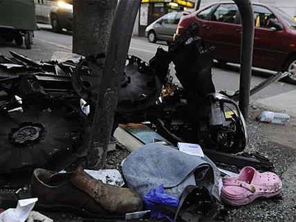 Bei dem Crash der Polizeiautos in Fünfhaus wurden neun Personen verletzt