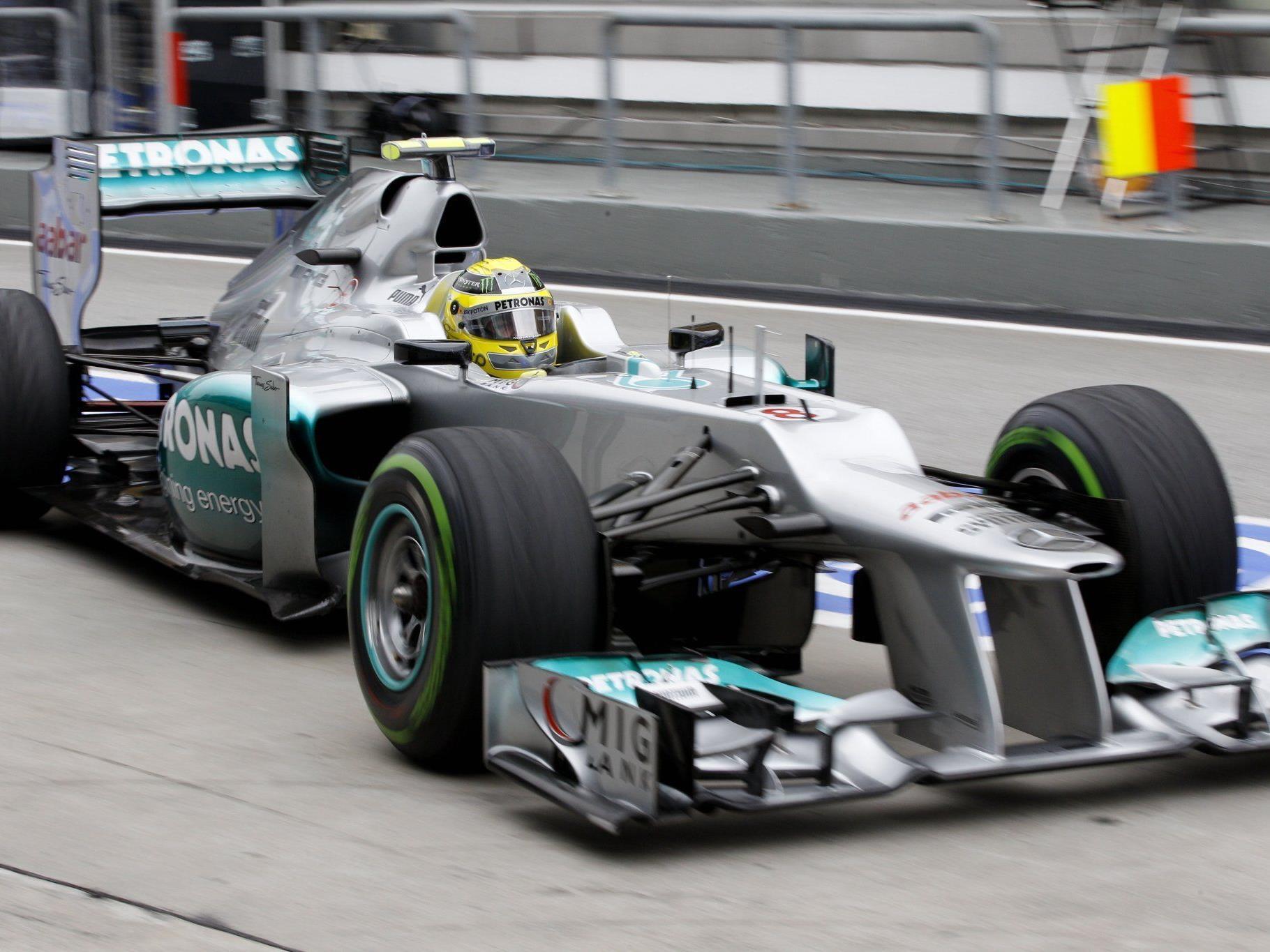 Nico Rosberg auf Mercedes war im Abschlusstraining der Schnellste.