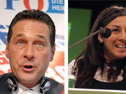 H. C. Strache und Maria Vassilakou vertreten in Sachen Parkpickerl denkbar gegensätzliche Positionen