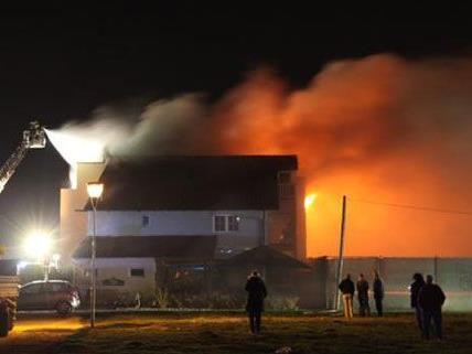 Durch den Brand in Wolfsthal wurde das Obergeschoss des Hotels zerstört.