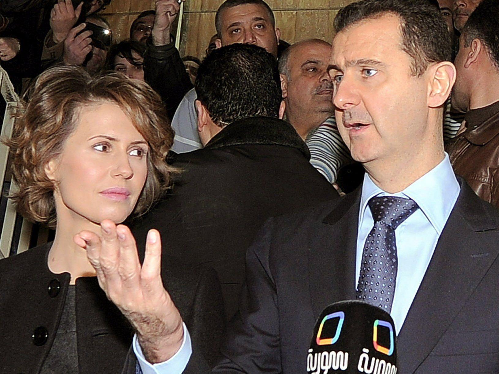 Machthaber Bashar Assad mit seiner Frau Asma.