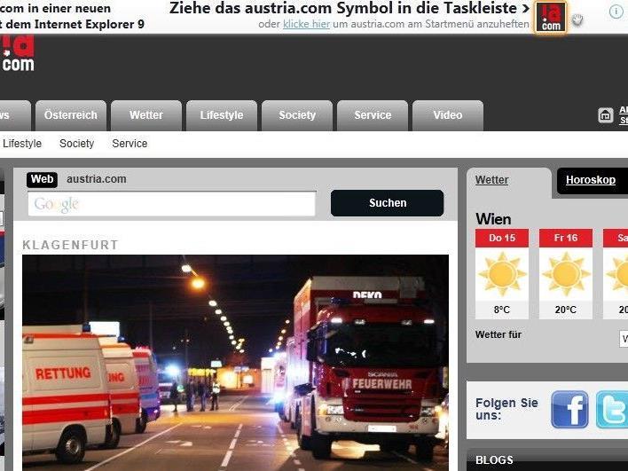 Mit dem Internet Explorer AUSTRIA.COM neu erleben
