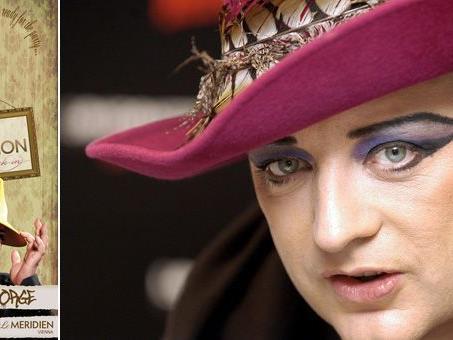 """Boy Geaorge kommt am 23. März 2012 ins Hotel Meridien zum """"Fashion Check-in""""."""