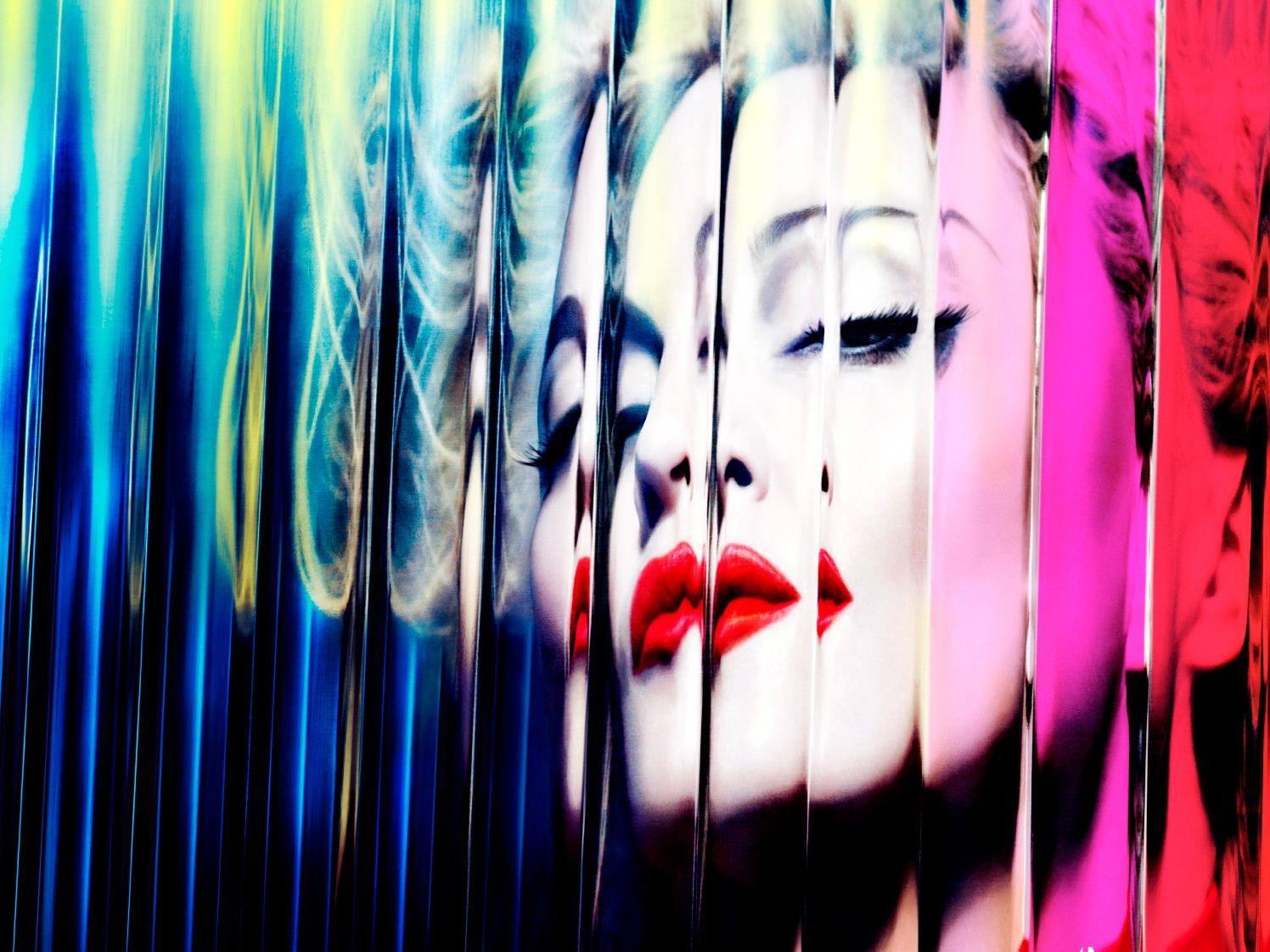 """Die Pop-Queen auf dem Cover ihres neuen Albums """"MDNA""""."""