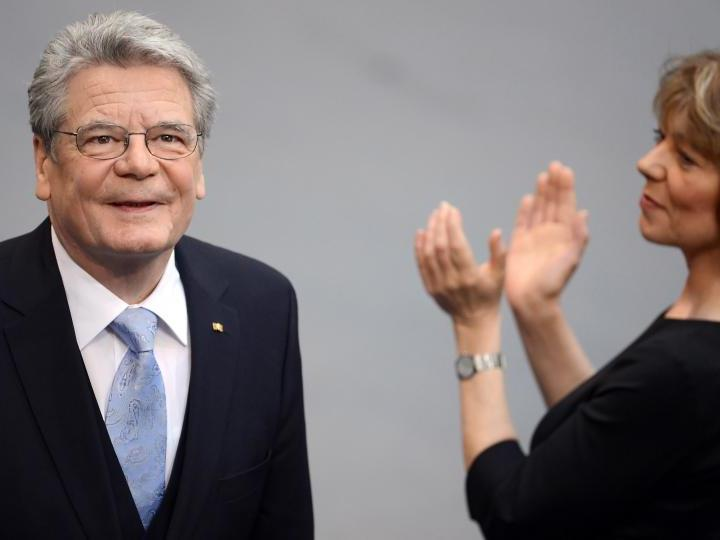 """Mit Nachdruck plädierte Gauck dafür, am """"Ja zu Europa"""" festzuhalten."""