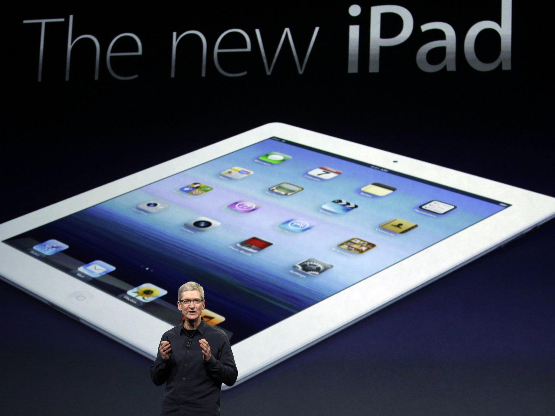 Tim Cook präsentiert das neue iPad in San Francisco.