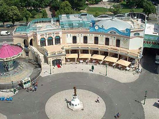 Das ist der Vorplatz zum Wiener Riesenrad.