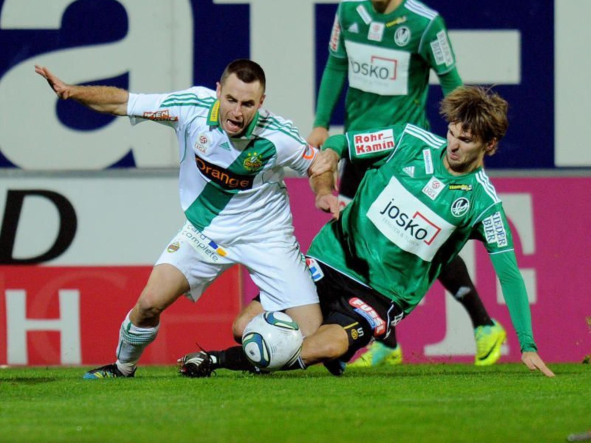 Tabellenführer Rapid Wien empfängt heute zum Auftakt den SV Ried