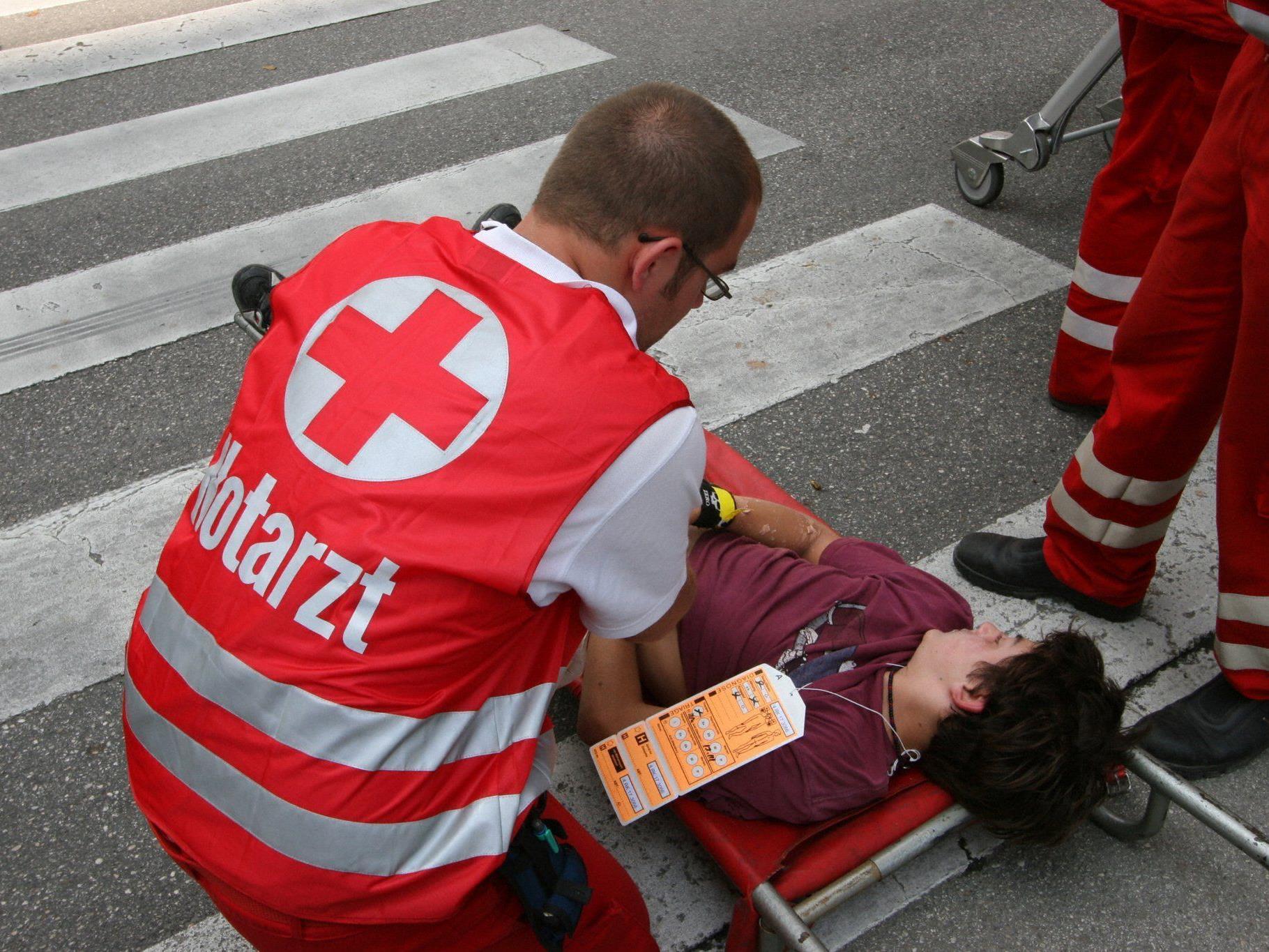 Lebensgefahr bestand nach einem Arbeitsunfall in der Donaustadt