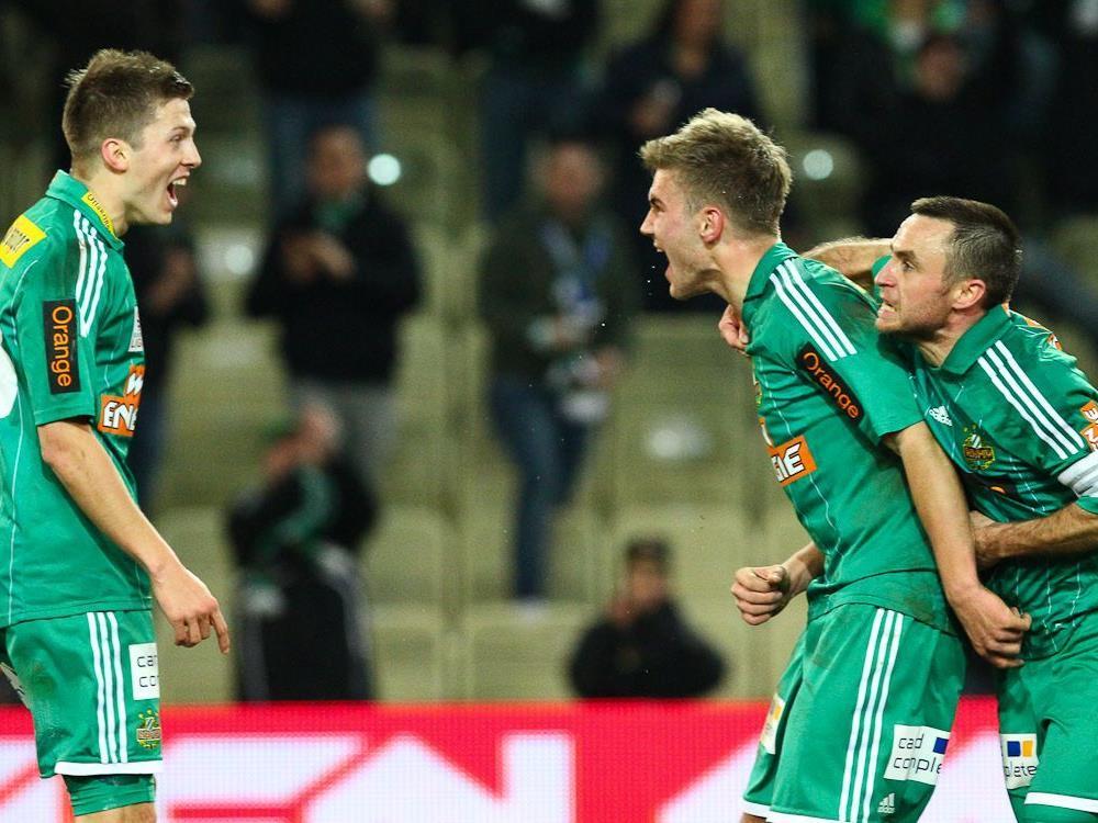 Rapid konnte in der Frphjahressaison endlich Tore erzielen und gewann gegen Kapfenberg 3:0