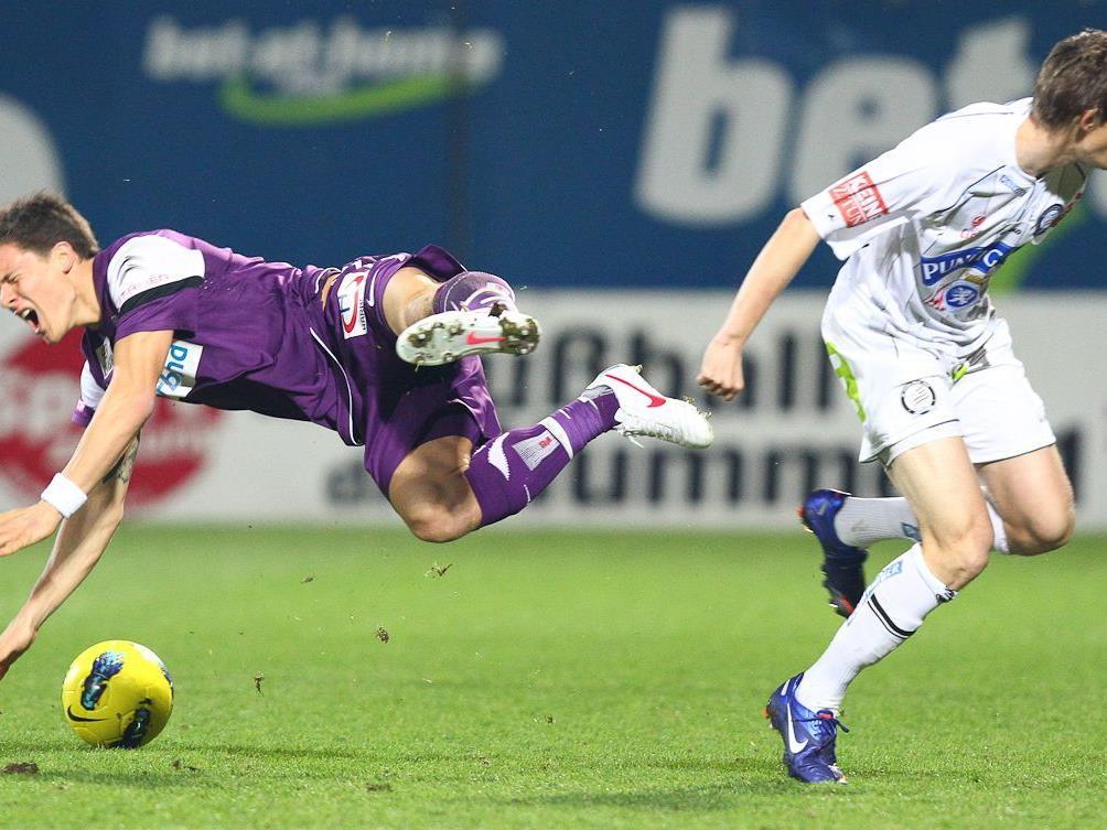 Austria udn Sturm spielten nur 1:1.