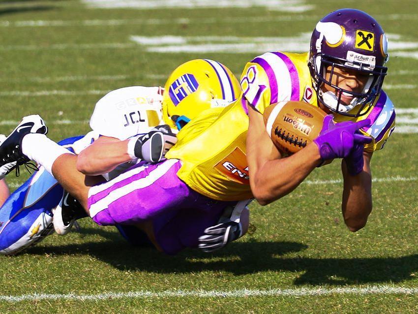 Die Raiffeisen Vikings konnten in der ersten AFL-Runde punkten.