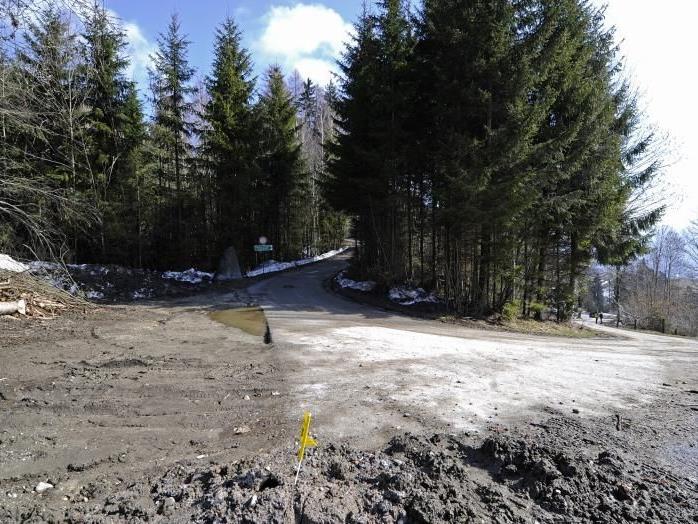 Der Tatort im Gemeindegebiet von Wiesing in Tirol