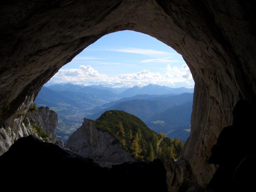 Eishöhle in Großarl, Österreich.