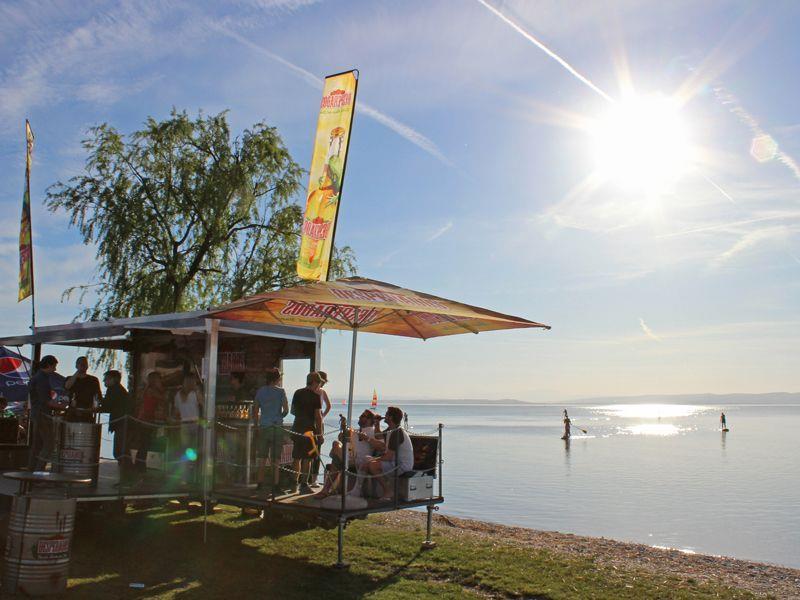 Traumwetter und super Stimmung am Surfweltcup in Podersdorf.