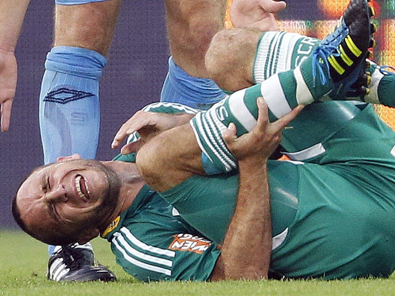 Rapid Kapitätn Steffen Hofmann fällt im Match gegen Wiener Neustadt aus.