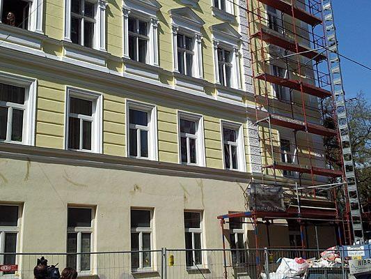 In diesem Haus in Währing ereignete sich der schwere Arbeitsunfall