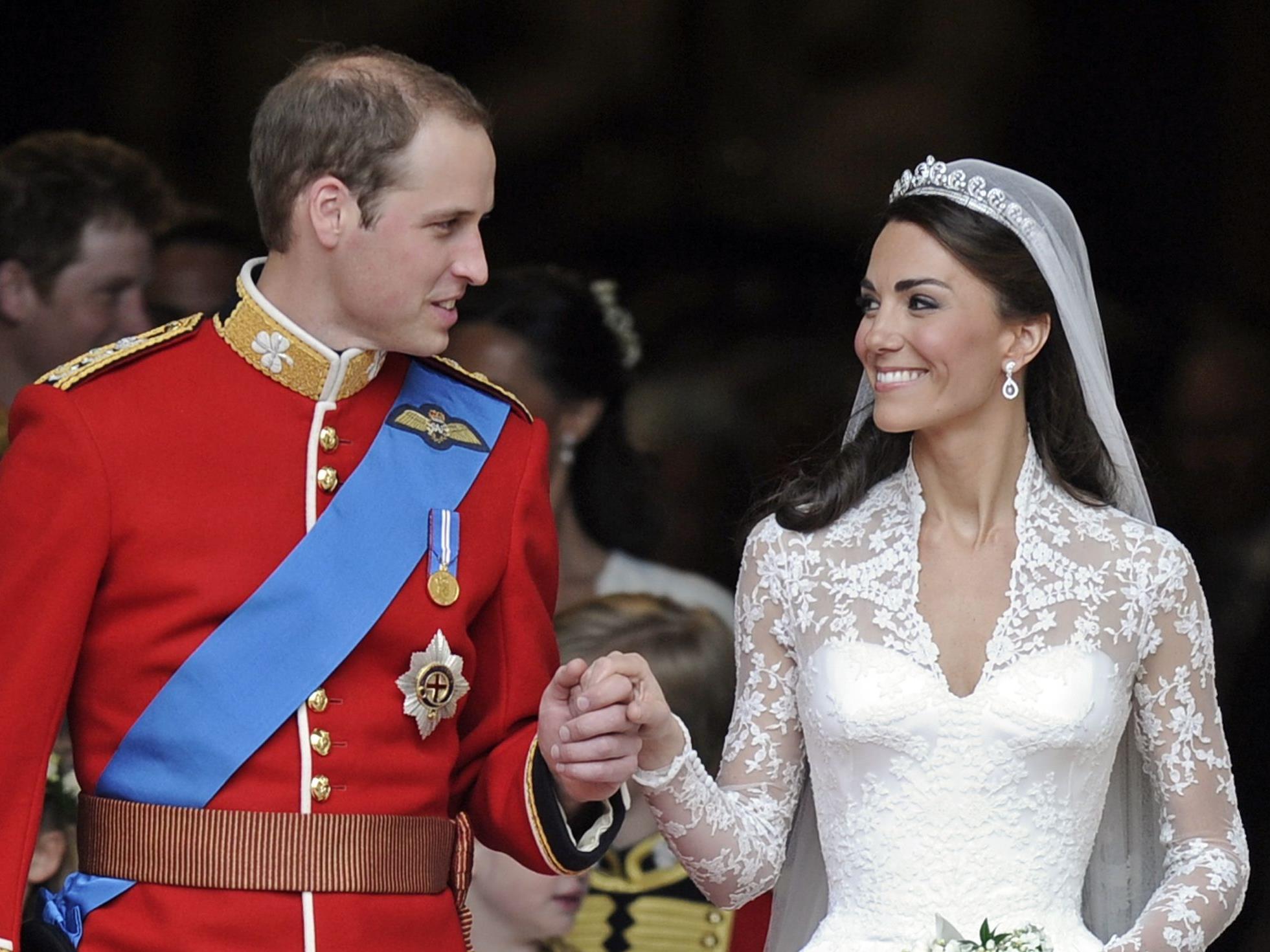 William und Kate am Tag ihrer Hochzeit 2011.