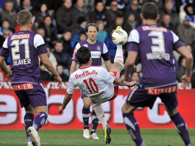 Salzburg holte sich mit einem Tor in der Schlussminute ein Untentschieden bei der Austria in Wien.
