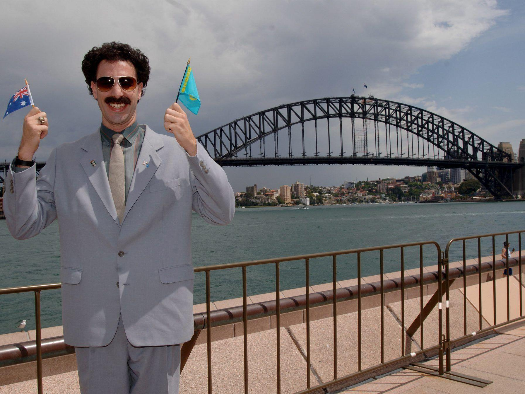 """Sacha Baron Cohen bei der Australien-Premiere von """"Borat""""."""
