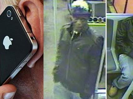 Die Polizei fahndet nach dem mutmaßlichen Handy-Dieb (Bild rechts).