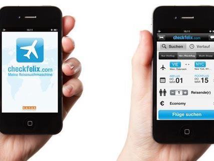 Kinderleicht am iPhone den passenden Flug finden.