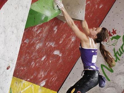 Auch Weltmeisterin Anna Stöhr ist beim Boulder Weltcup mit dabei.