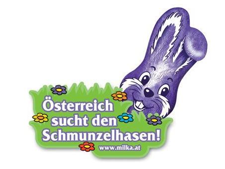 Österreich sucht den Milka Schmunzelhasen zur Osterzeit.