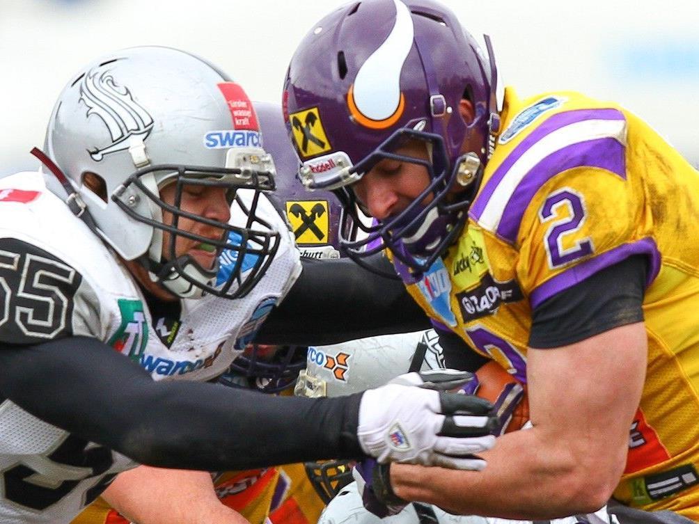 Die Vienna Vikings konnten sich im Schlager gegen die Raiders die Tabellenführung sichern.