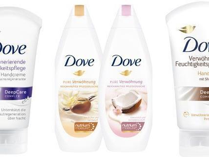 Dusch- und Handcreme von Dove gewinnen