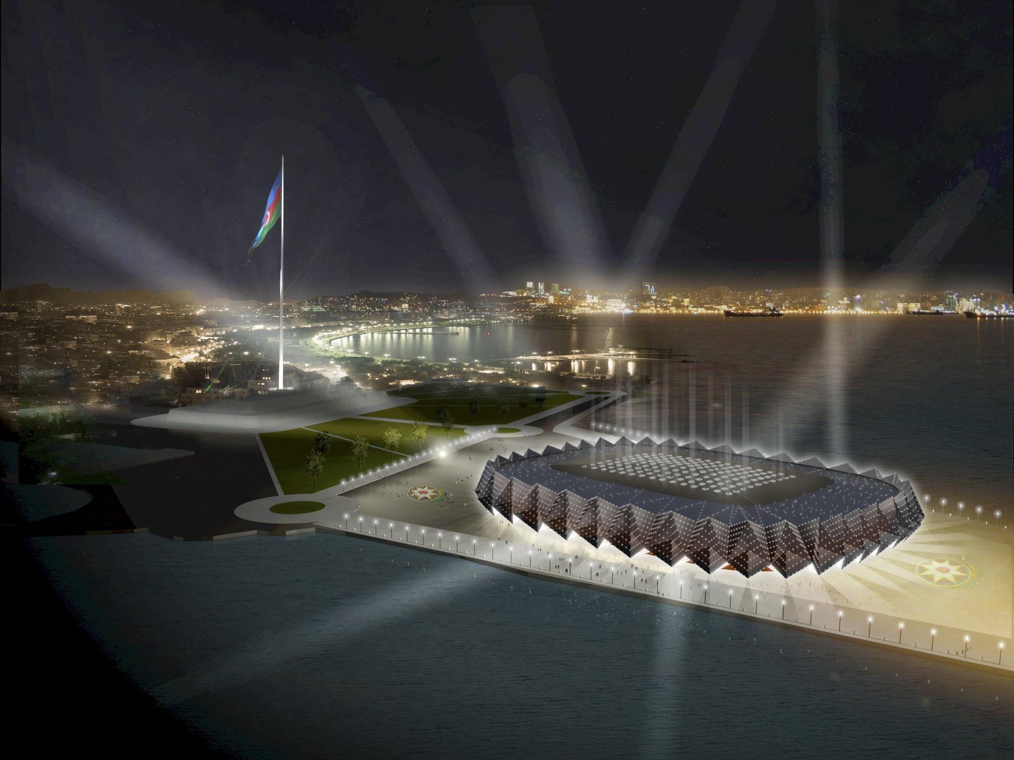 """Die """"Baku Crystal Hall"""" wird unter anderem von der Salzburger Firma erbaut."""