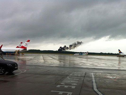 Beim Flughafen Wien-Schwechat gab es eine schockierende Rauchsäule