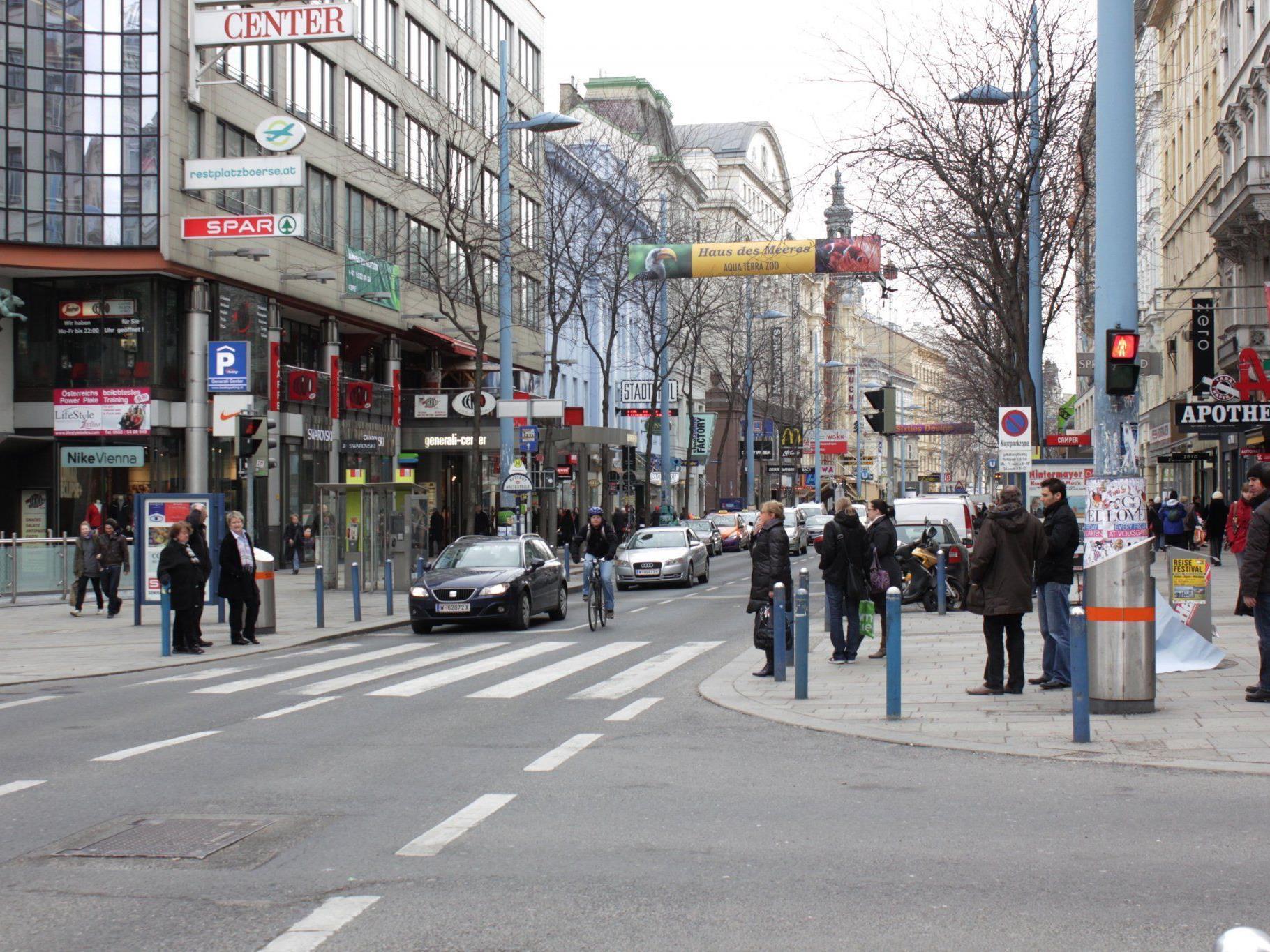 """""""Weitgehend autofrei"""" soll die Mariahilfer Straße werden"""