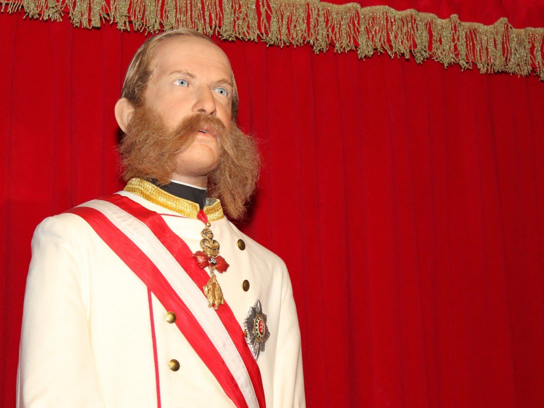 Der Kaiser als Animatronic bei Time Travel Vienna