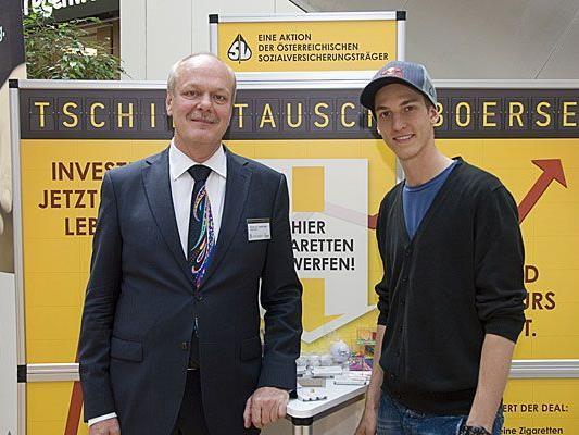 Alternativen zum Rauchen sind bei der Tschick-Tausch-Börse in Wien rasch gefunden